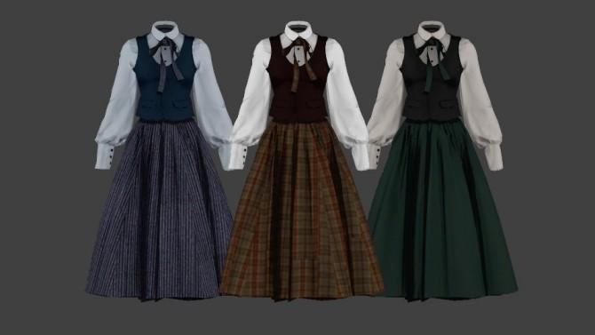 Vintage Lolita High Waist Skirt at SHENDORI SIMS image 499 670x377 Sims 4 Updates