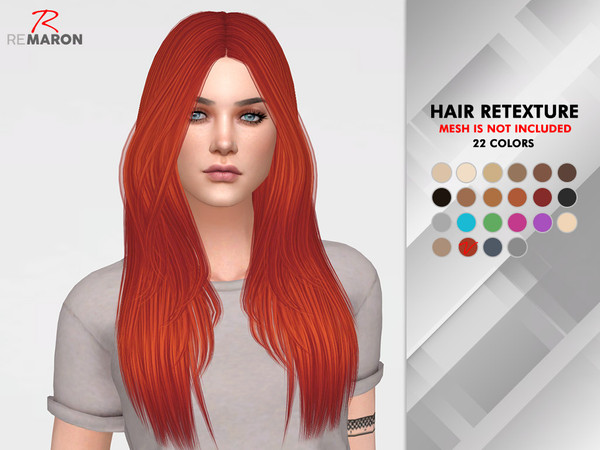 Sims 4 Emily Hair Retexture by remaron at TSR