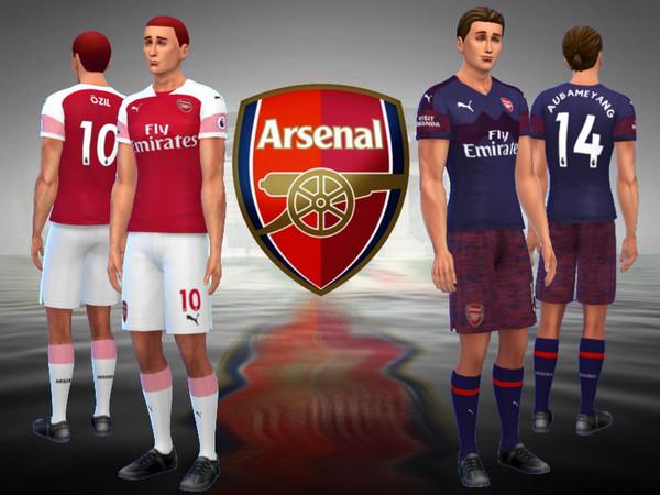 Sims 4 Arsenal FC Kit 2018/19 by RJG811 at TSR