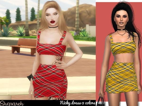 Sims 4 Nicky Dress by Sharareh at TSR