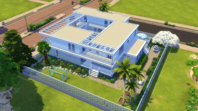 Blue and White Floridian Mansion by thegrimtuesday at Mod The Sims image 5111 670x377 Sims 4 Updates