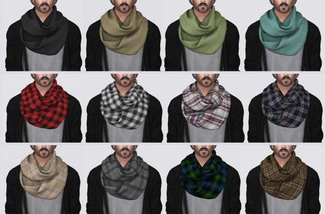 Infinity Scarf at Darte77 image 5113 670x441 Sims 4 Updates