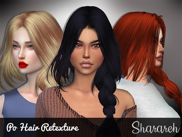 Sims 4 Po hair retexture by Sharareh at TSR