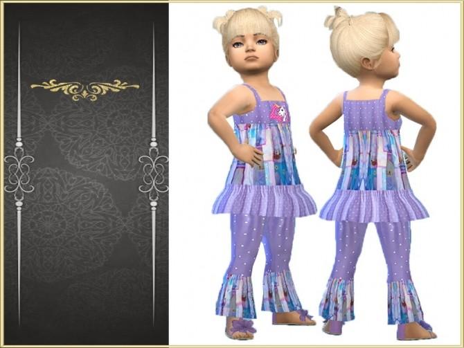 Sims 4 Purple polka dot toddler set at Trudie55