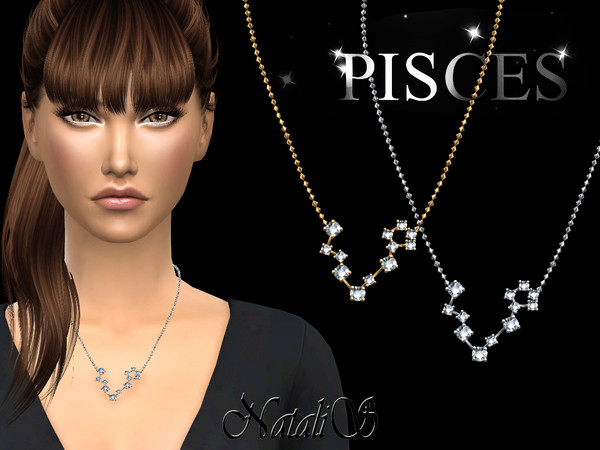 Pisces zodiac necklace by NataliS at TSR image 520 Sims 4 Updates