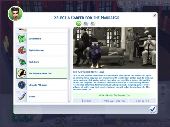 The Selvadoradese Owl Career by asiashamecca at Mod The Sims image 521 670x503 Sims 4 Updates