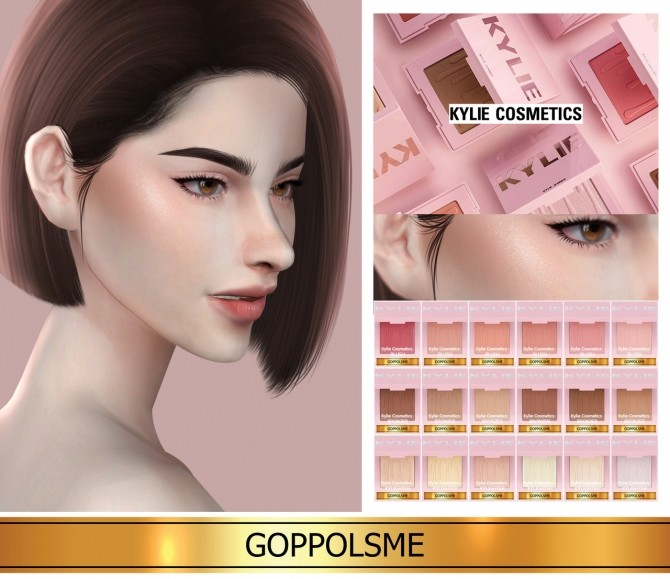 Sims 4 BLUSH   BRONZER   KYLIGHTER BUNDLE at GOPPOLS Me