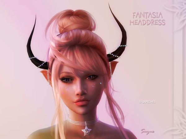Sims 4 Fantasia Headdress by Suzue at TSR