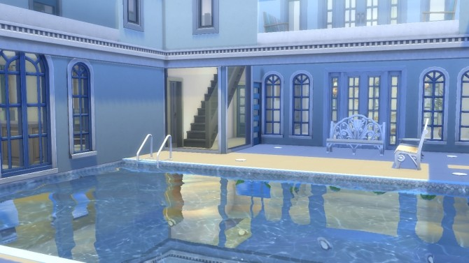 Blue and White Floridian Mansion by thegrimtuesday at Mod The Sims image 527 670x377 Sims 4 Updates