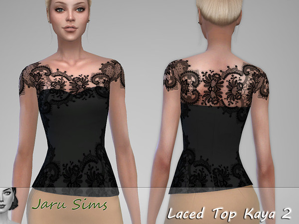 Laced Top Kaya 2 by Jaru Sims at TSR image 5417 Sims 4 Updates