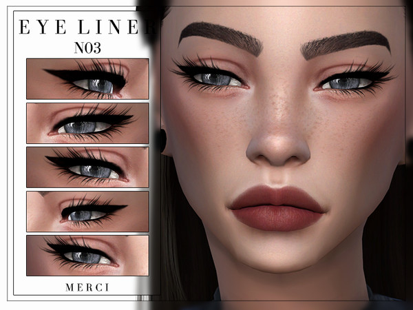 Eyeliner N03 by Merci at TSR image 548 Sims 4 Updates