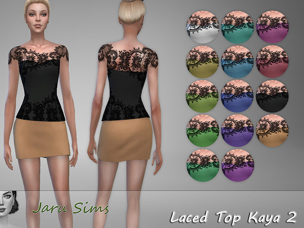 Laced Top Kaya 2 by Jaru Sims at TSR image 5515 Sims 4 Updates