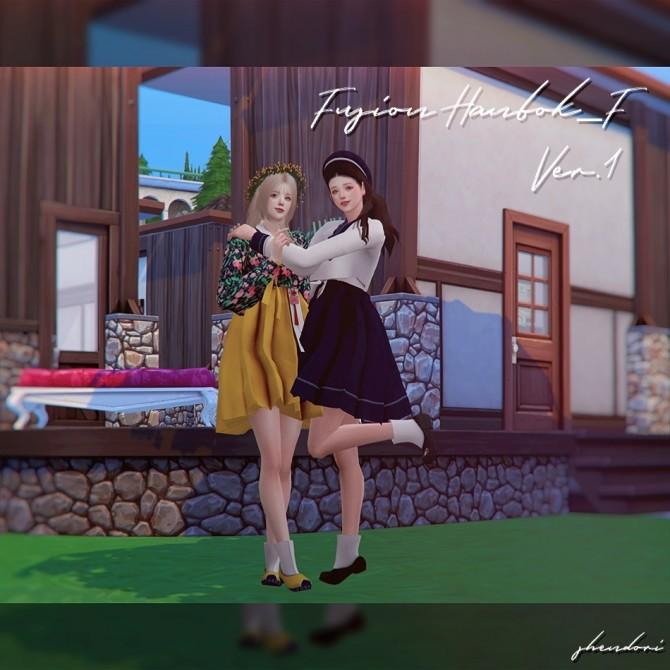 Sims 4 Fusion Hanbok F Ver 1&2 at SHENDORI SIMS
