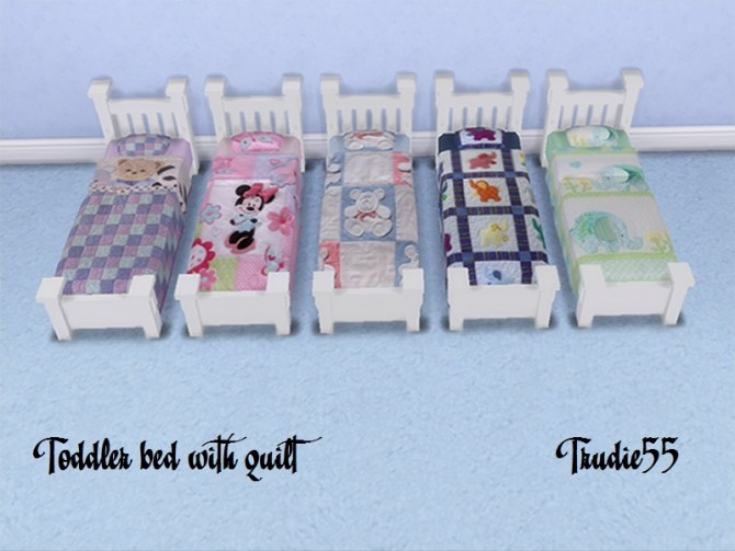 Toddler beds with quilts at Trudie55 image 587 670x503 Sims 4 Updates