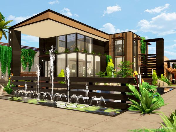 Sims 4 Modern Black house by Lhonna at TSR