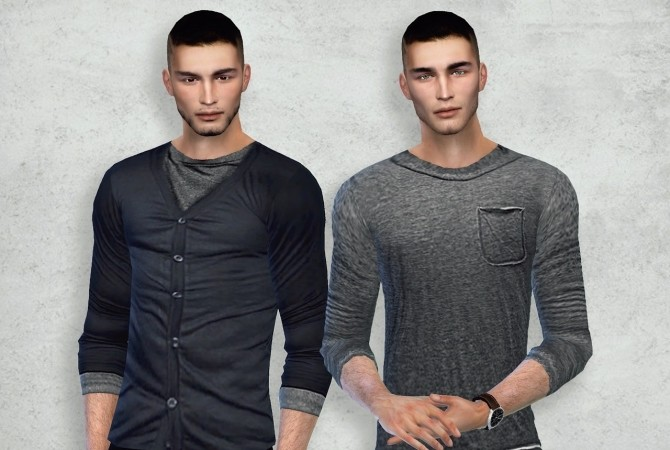 Sims 4 Harrison twin brothers at Blue Ancolia