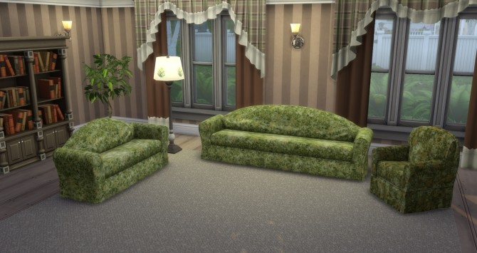 Sims 4 TS2 to TS4 Floral Fantasy Couches by simsi45 at Mod The Sims