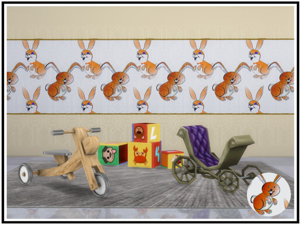 Bunny Rabbit Walls by marcorse at TSR image 610 Sims 4 Updates