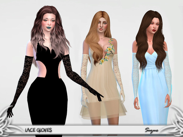 Lace Gloves by Suzue at TSR image 616 Sims 4 Updates