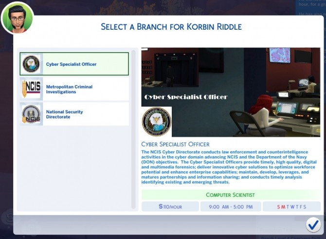 Sims 4 NCIS Career Conversion by crdroxxpl at Mod The Sims