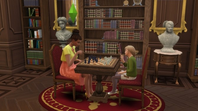 Sims 4 Chess Table from TS3 by TheJim07 at Mod The Sims