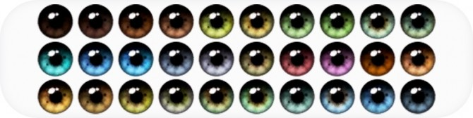 Sims 4 Yahline 2.0 Eyes + Heterochromia at Nords Sims
