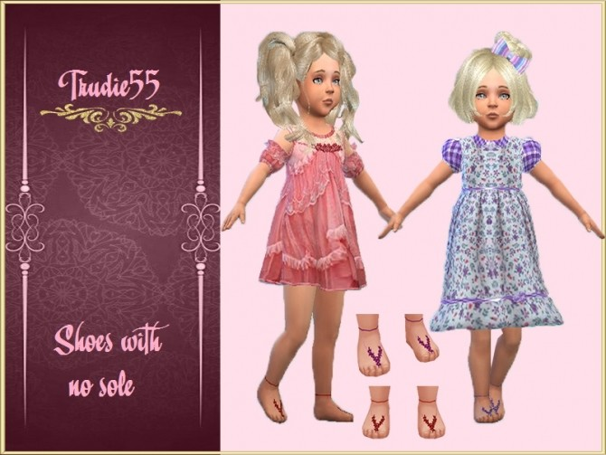 Toddler shoes with no sole at Trudie55 image 644 670x503 Sims 4 Updates