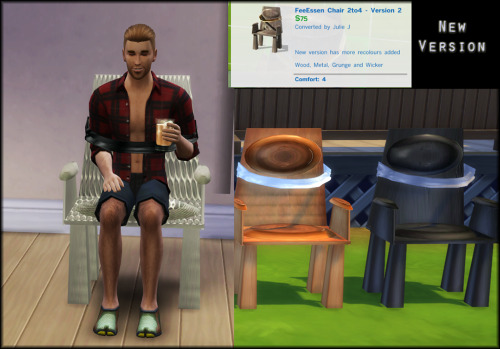 Sims 4 FeeEssen Chair Converted Now with Recolours at Julietoon – Julie J