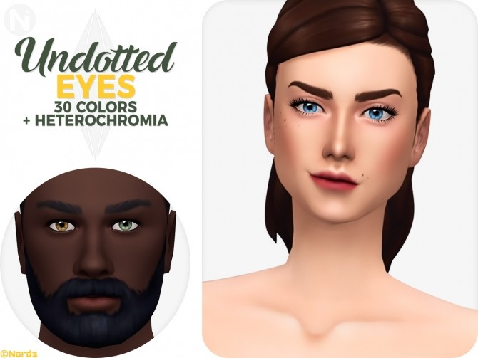 Sims 4 Undotted Eyes + Heterochromia at Nords Sims