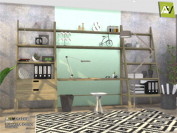 Sumatra Office by ArtVitalex at TSR image 67 Sims 4 Updates