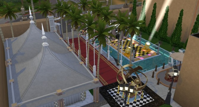 Sims 4 K.I.N.O. Party house by Victor tor at Mod The Sims