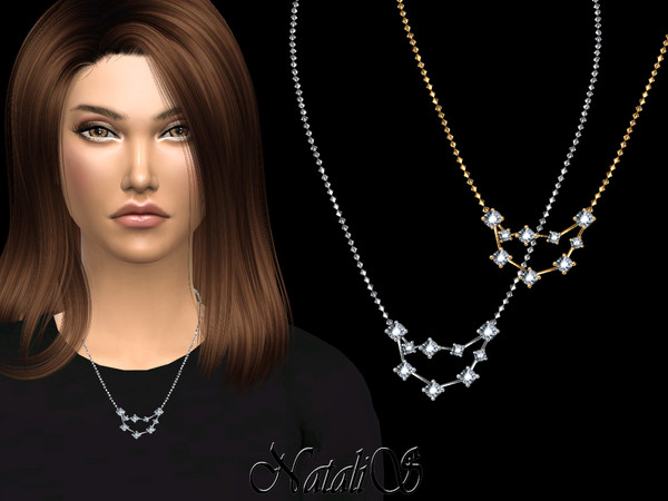 Sims 4 Capricorn zodiac necklace by NataliS at TSR