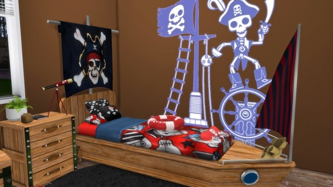 Sims 4 OPPOSITE TWINS BEDROOM PIRATES at MODELSIMS4