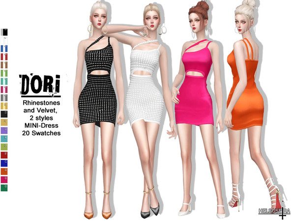 Sims 4 DORI Mini Dress by Helsoseira at TSR
