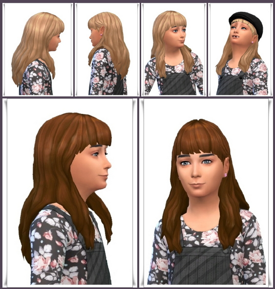 Amelie's Long Hair at Birksches Sims Blog image 701 Sims 4 Updates