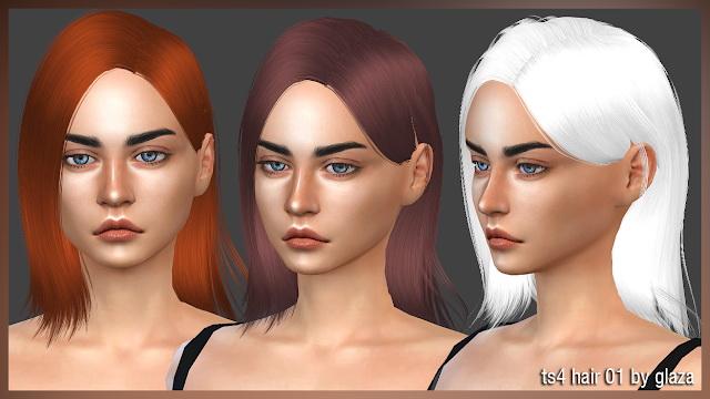 Sims 4 Hair 01 at All by Glaza