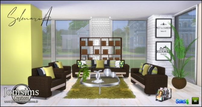 Selenaria living room at Jomsims Creations image 705 670x355 Sims 4 Updates