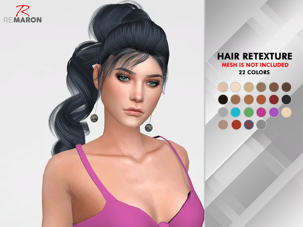 OE 1224 F Hair Retexture by remaron at TSR image 7103 Sims 4 Updates