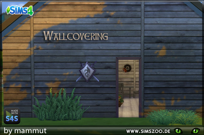 Sims 4 Old Wood 2 wall by mammut at Blacky's Sims Zoo