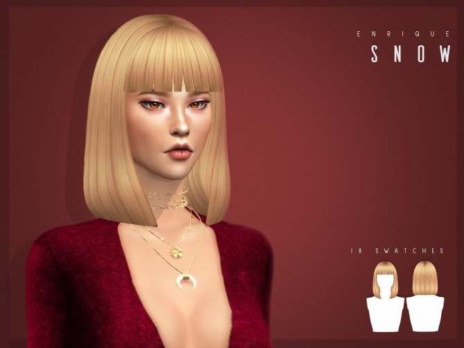 Snow Hairstyle at Enriques4 image 7116 670x503 Sims 4 Updates