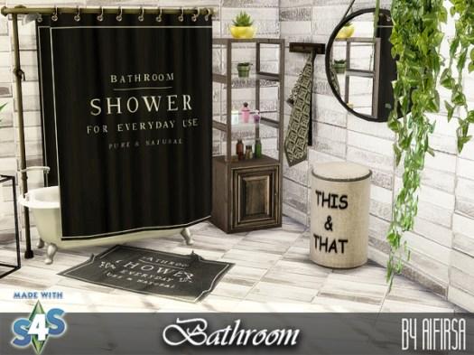 Sims 4 Bathroom furniture and decor at Aifirsa