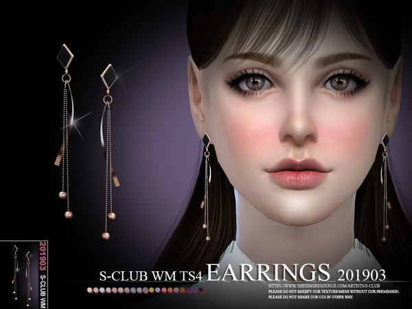 EARRINGS 201903 by S Club WM at TSR image 715 Sims 4 Updates