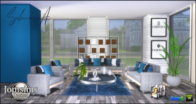 Selenaria living room at Jomsims Creations image 719 670x355 Sims 4 Updates
