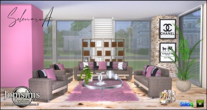 Selenaria living room at Jomsims Creations image 725 670x355 Sims 4 Updates