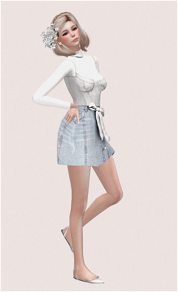 Yui at SilwerMoon Sims image 727 611x1000 Sims 4 Updates