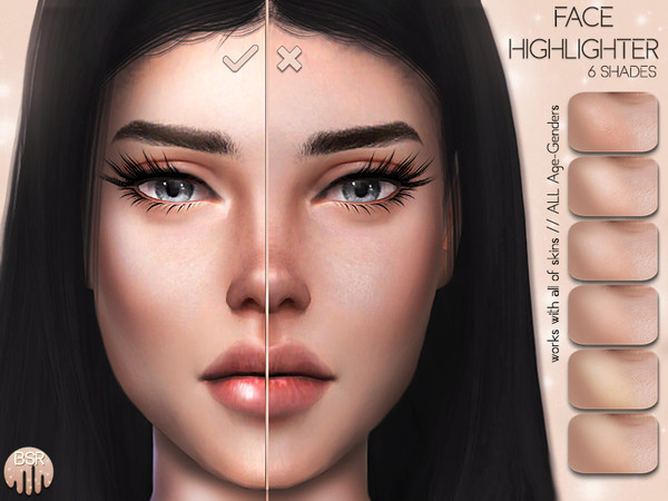 Sims 4 Face Highlighter BH05 by busra tr at TSR