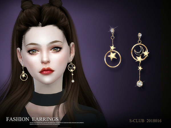 Earrings 201816 by S Club LL at TSR image 73 Sims 4 Updates