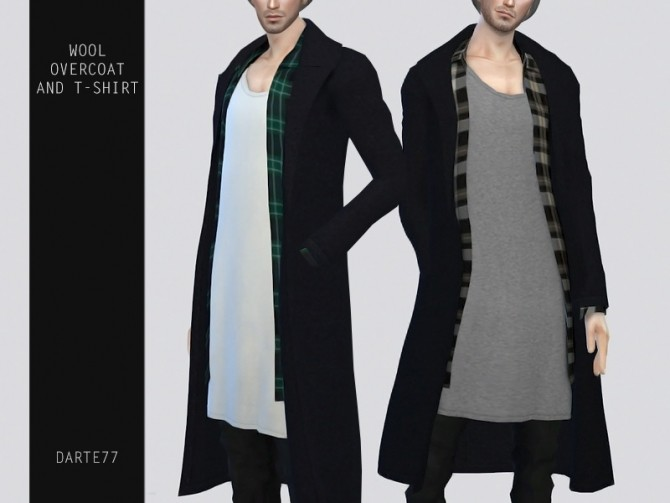 Sims 4 Wool Overcoat and T Shirt at Darte77