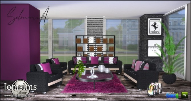 Selenaria living room at Jomsims Creations image 734 670x355 Sims 4 Updates
