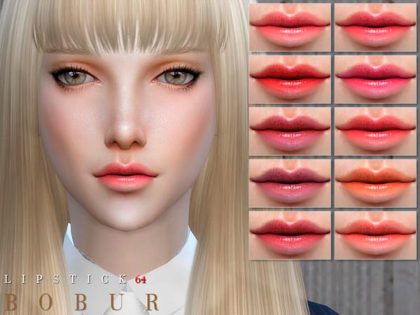 Lipstick 64 by Bobur3 at TSR image 74 Sims 4 Updates